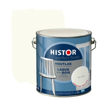 Histor Perfect Finish houtlak hoogglans RAL 9010 2,5 l