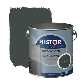 Histor Perfect Finish betonvloer zijdeglansRAL 7043 dark grey 2,5 l