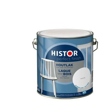 Histor Perfect Finish houtlak zijdeglans 7000 wit 2,5 l