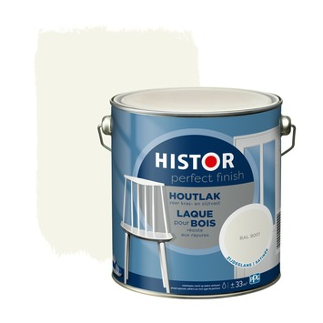 Histor Perfect Finish houtlak zijdeglans  RAL 9001 2,5 l