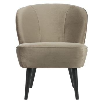 WOOOD fauteuil Sara fluweel olijfgoud
