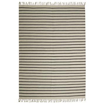 Tios Vloerkleed Wit/Zwart 5 mm 160x230 cm