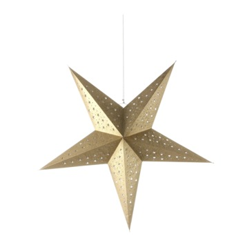Ster goud glitter 28,5x75 cm