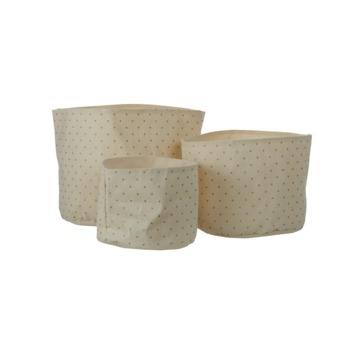 Pot rond off white 25x30 cm