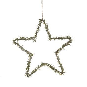 Ornament ster groen 30 cm