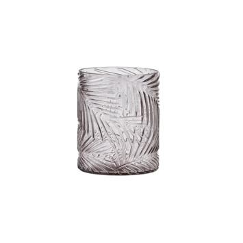 Vaas Deron glas grijs 12,5x10 cm
