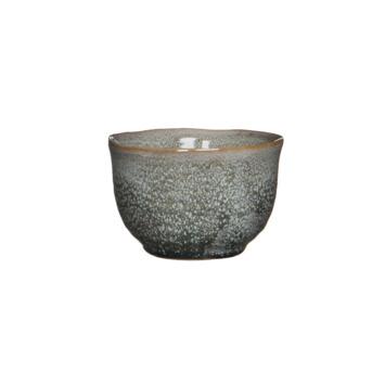 Schaal rond grijs 7x10,5 cm