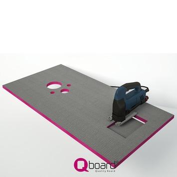 Qboard Quick Inbouwreservoir Montageset 130x60 cm 20 mm