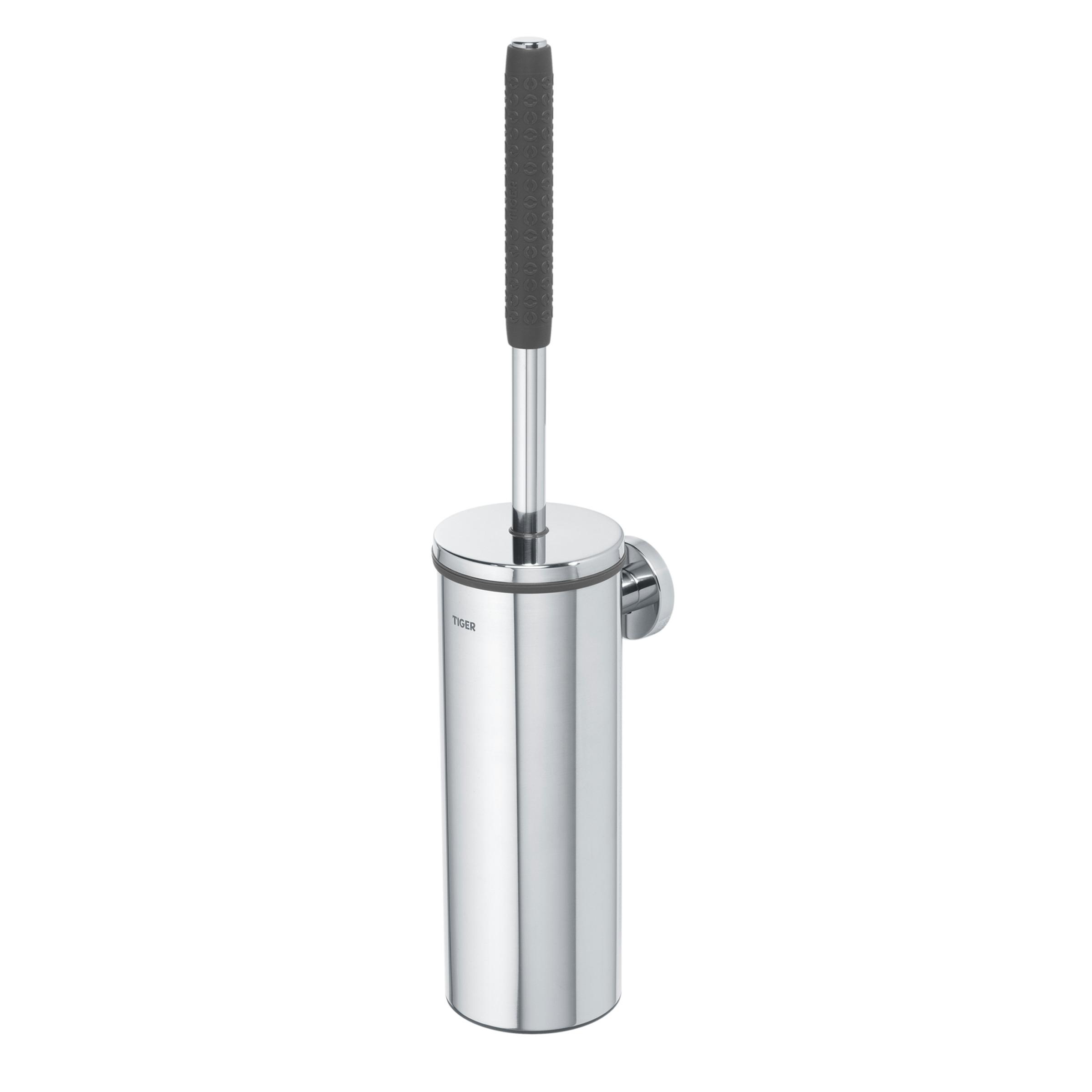 Tiger Boston Comfort & Safety toiletborstel met houder, rvs glans