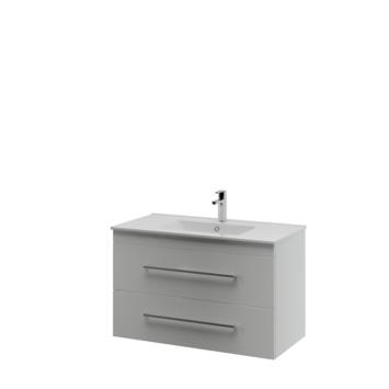 Bruynzeel Optima badkamermeubel set 90cm mat wit met vierkante greep