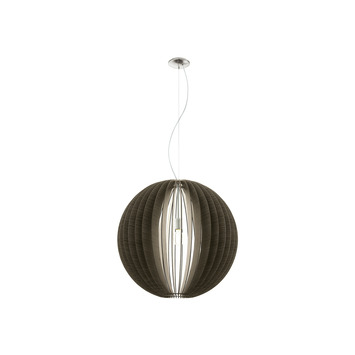 Eglo hanglamp Cassano Ø70 cm donkerbruin