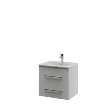 Bruynzeel Optima badkamermeubel set 60cm mat wit met vierkante greep