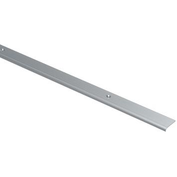 Trapkant rib grof aluminium geanodiseerd 25x5mm 250cm