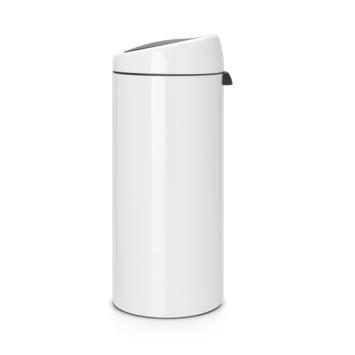 Brabantia Afvalbak 30 Liter.Brabantia Prullenbak 30 Liter Touch Bin White Kopen Prullenbakken