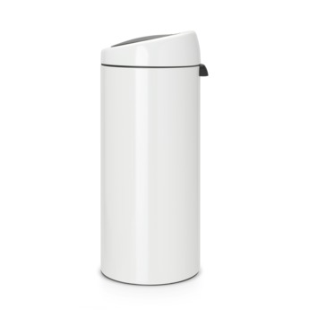 Brabantia 30 Liter Touch Bin.Brabantia Prullenbak 30 Liter Touch Bin White