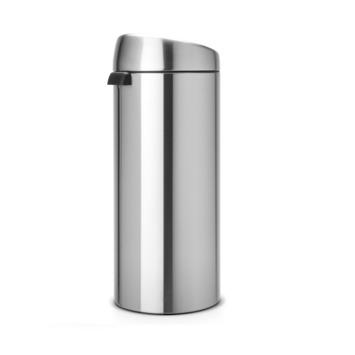 Brabantia 30 liter 'Touch Bin' matt steel finger print
