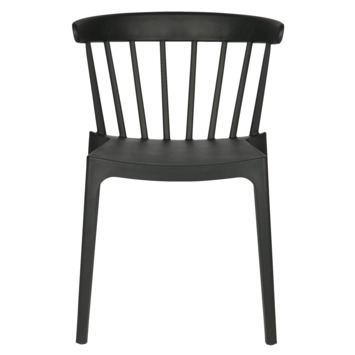 Woood eetkamer-terrasstoel Bliss kunststof zwart