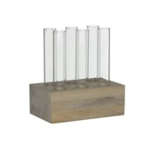 Vaas tube transparant 16x10x16 cm