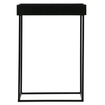 WOOOD bijzettafel Dexter L met afneembaar tafelblad hout/metaal zwart 55x40x40 cm