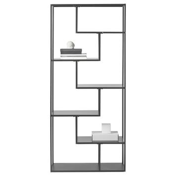 Zwarte Stellingkast Metaal.Vakkenkast Noor Metaal Zwart 190x85x35 Cm Kopen Wandkasten Karwei