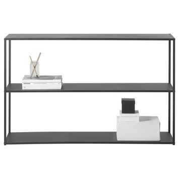 Dressoir/sidetable Giel metaal zwart 82x130x35 cm