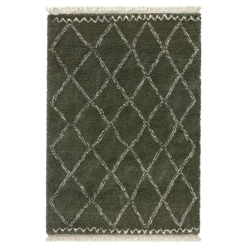Varamin Vloerkleed Donker Groen/Wit 35 mm 200x290 cm