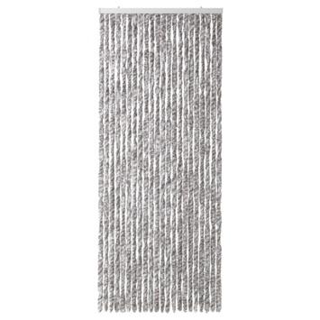 Kattenstaarten grijs/bruin/wit gemêleerd 90x220 cm