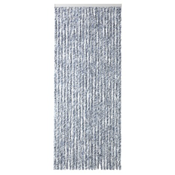 Kattenstaarten blauw/grijs/wit gemêleerd 100x230 cm