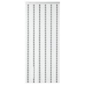 Sun-Arts Vliegengordijn 90X210 cm Wit Zwart Zilvergrijs