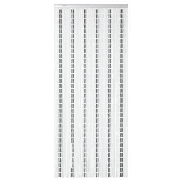 Sun-Arts Vliegengordijn 100X232 cm Wit Zwart Zilvergrijs