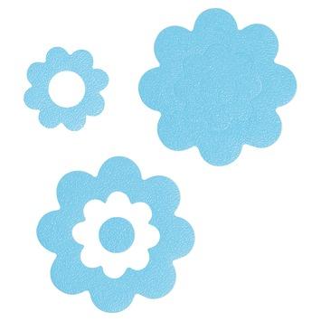 Sealskin badbloemen antislip blauw - 7 stuks