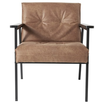 WOOOD fauteuil Lennon ecoleer cognac