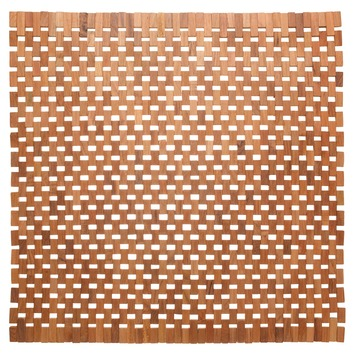 Sealskin Woodblock wc mat Teak 60 x 60 cm