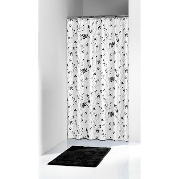 Sealskin Gypso douchegordijn zwart 180 x 200 cm