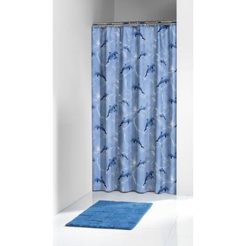 Sealskin Delfino douchegordijn blauw 180 x 200 cm