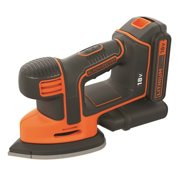Black + Decker schuurmachine 18V Mouse BDCDS18N-XJ