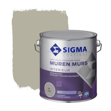 Sigma hoogdekkende muurverf RAL 7032 2,5 liter