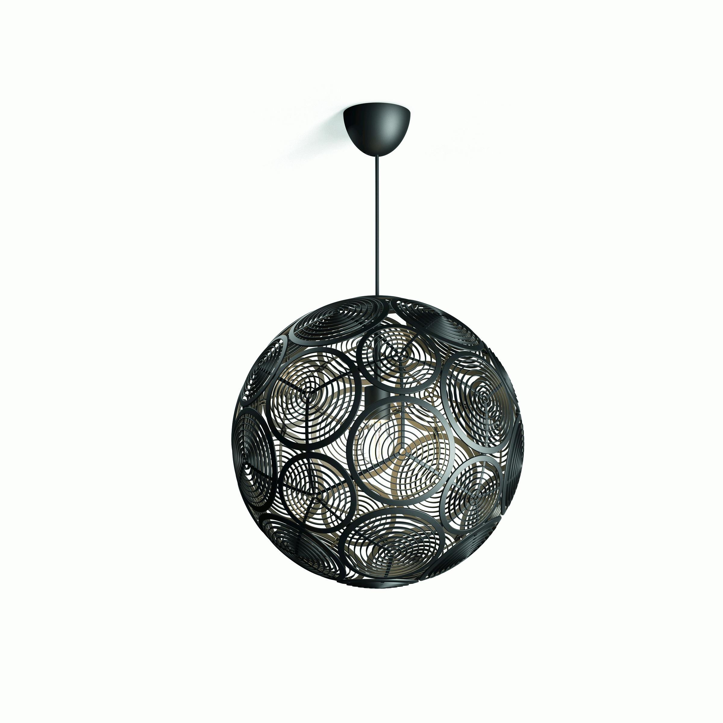 Philips hanglamp Ring zwart