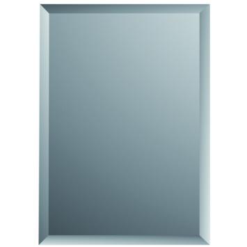 Plieger Charleston spiegel met facetrand zilver 45 x 30 cm
