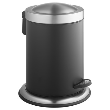 Atlantic pedaalemmer 5 liter RVS/Zwart