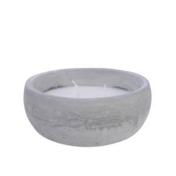 Kaars in cement bak Ø 17cm