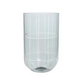 Theelicht glas snijwerk blauw Ø 12 cm