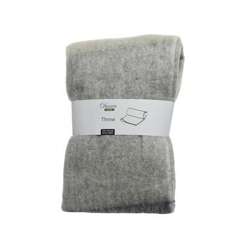 Sprei acryl grijs 130x170 cm