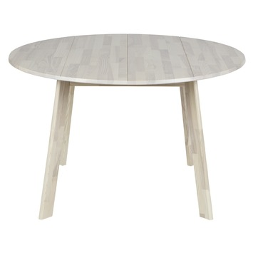 Ronde Tafel White Wash.Woood Eettafel Camelot Essen Whitewash