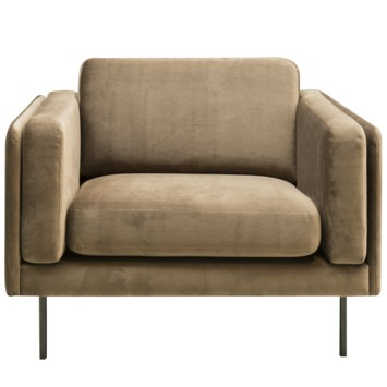 Fauteuil Marquise fluweel champagne