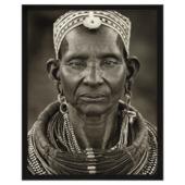 Print in lijs 40x50 cm Keniaanse vrouw