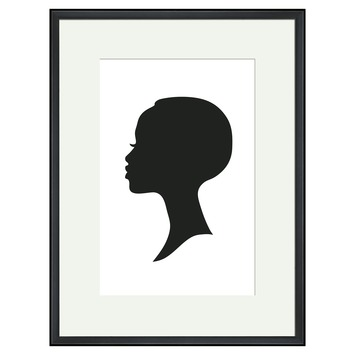 Print in lijst 30x40 cm Silhouette 1