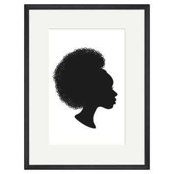 Print in lijst 30x40 cm Silhouette 2
