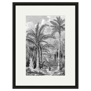 Print in lijst 30x40 cm Palmbomen 1