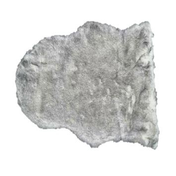 Imitatie konijnenvacht grijs 40x60 cm